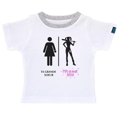 Super Heros Ma Grande Soeur T Shirt Enfant Manches
