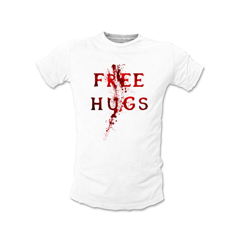 Free Hugs Blood - T-shirt Homme Coton Blanc